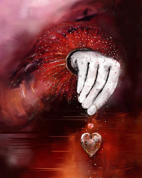 Liebe, Hand, Rot, Fantasie, Herz, Weiß