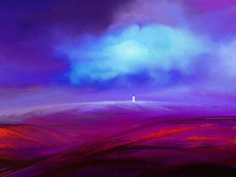 Frau, Moment, Wolken, Fantasie, Digitale kunst, Surreal