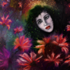 Scheinbar, Frau, Fantasie, Blumen