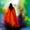 Frau, Rot, Fantasie, Digitale kunst