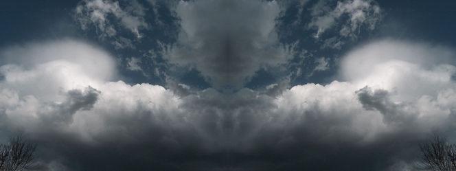 Spiegelung, Geist, Gesicht, Wolken, Himmel, Digitale kunst