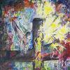 Bunt, Hell udn dunkel, Kreuz, Malerei