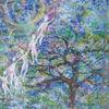 Blau, Kind, Frühling, Baum