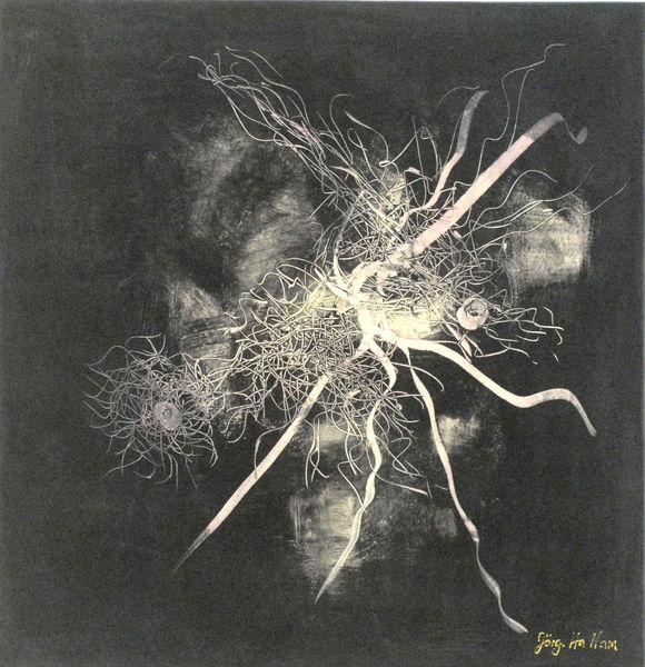 Zeitgenössisch, Zeitgenössische kunst, Netzwerke, Realismus, Ökogemälde, Natürlich