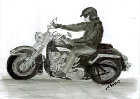 Motorrad, Zeichnungen,
