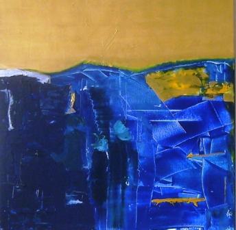Gold, Blau, Malerei