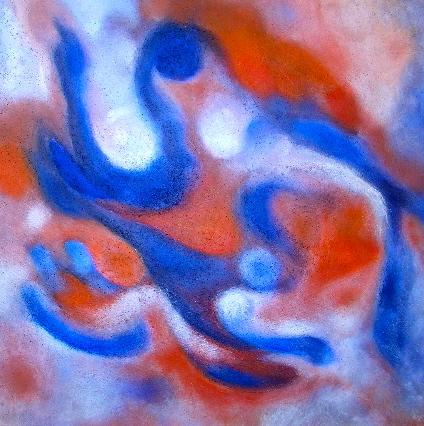 Fluss, Farben und formen, Malerei