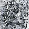 Tanglic, Zeichnung auf papier, Getaktet, Zeichnungen