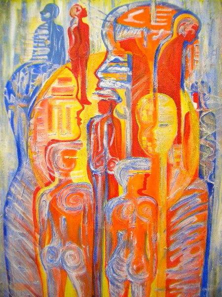 Menschen, Malerei, Unterwegs