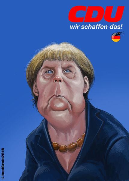 Politik, Merkel, Lügen, Deutschland, Zeichnungen