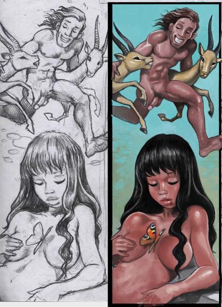 Comic, Panel, Zeichnungen,