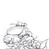Gesicht, Frau, Ratte, Zeichnungen
