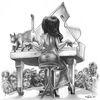Konzert, Katze, Publikum, Klavier