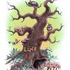 Maus, Eule, Baum, Pilze