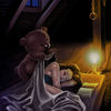 Dachboden, Gute nacht, Teddybär, Illustrationen