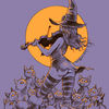 Frau, Geige, Katze, Illustrationen