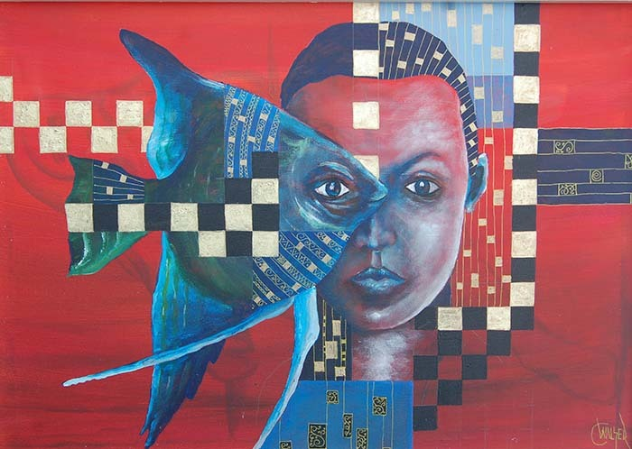 Toleranz, Augen, Ander meinung, Fisch, Andere ansichet, Malerei