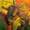 Mexiko, Figural, Ziegen, Ölmalerei