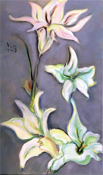 Malerei, Lilien
