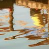 Wasser, Spiegelung, Bootssteg, Verzerrung