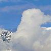 Panorama, Berge, Wolken, Wetter