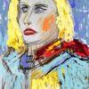 Frau, Portrait, Charakter, Illustration