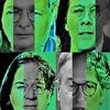 Portrait, Poker, Schwarzgrün, Menschen