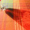Projektion, Glas, Farben, Tisch