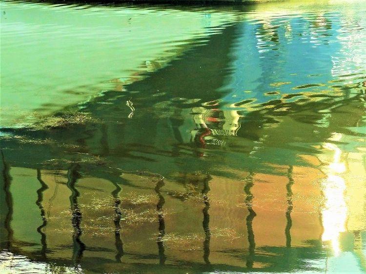 Spiegelung, Fluss, Farben, Donau, Licht, Wasser