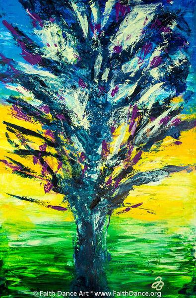 Baum, Explosion, Acrylmalerei, Malerei, Afrika