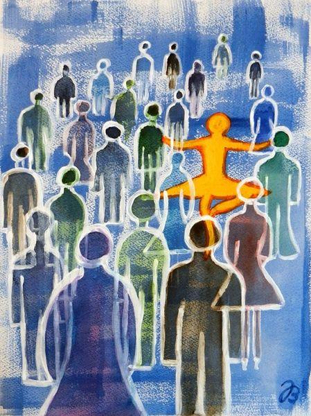 Identität, Figur, Individuell, Schatten, Mut, Menschen
