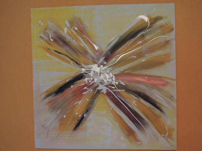 Energie, Moderne bilder, Gold, Abstrakte malerei, Gelb, Meditation