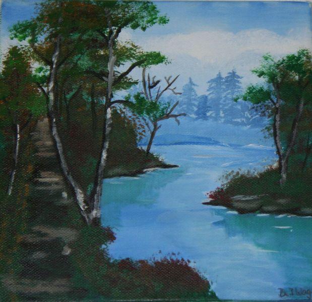 Baum, Fluss, Weg, Lauf des wasser, Leben, Wasser