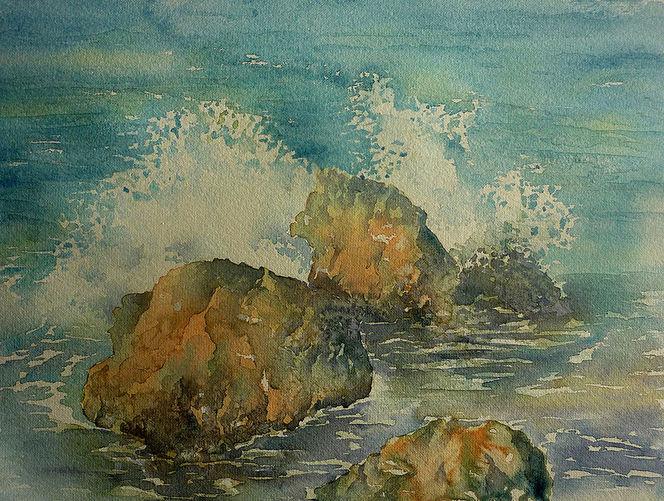 Atlantik, Ozean, Algarve, Portugal, Meer, Felsen