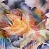 Blätter, Aquarellmalerei, Herbst, Aquarell