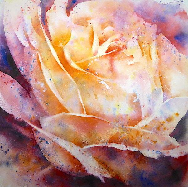Blumen, Aquarellmalerei, Aquarell, Rose,
