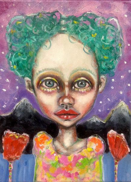 Mädchen, Kleinformatig, Biologie, Lila, Traum, Landschaft