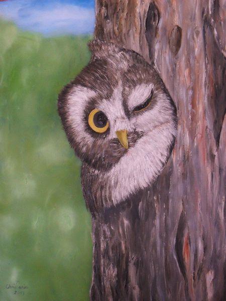 Tag, Baum, Stören, Malerei