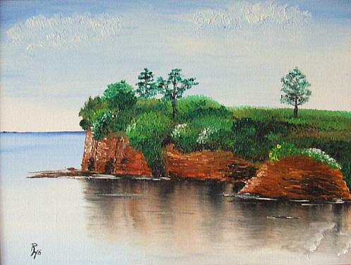 Felsen, Wasser, Landschaft, Meer, Spiegelung, Natur