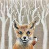 Malerei, Acrylmalerei, Fuchs, Wald