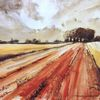 Getreide, Wolken, Feld, Sommer