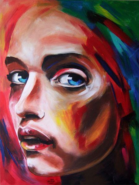 Portrait, Acrylmalerei, Malerei, Abstrakt,