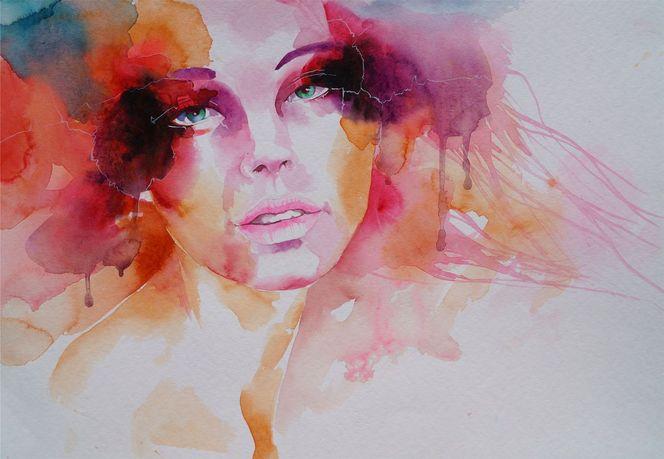 Portrait, Aquarellmalerei, Aquarell