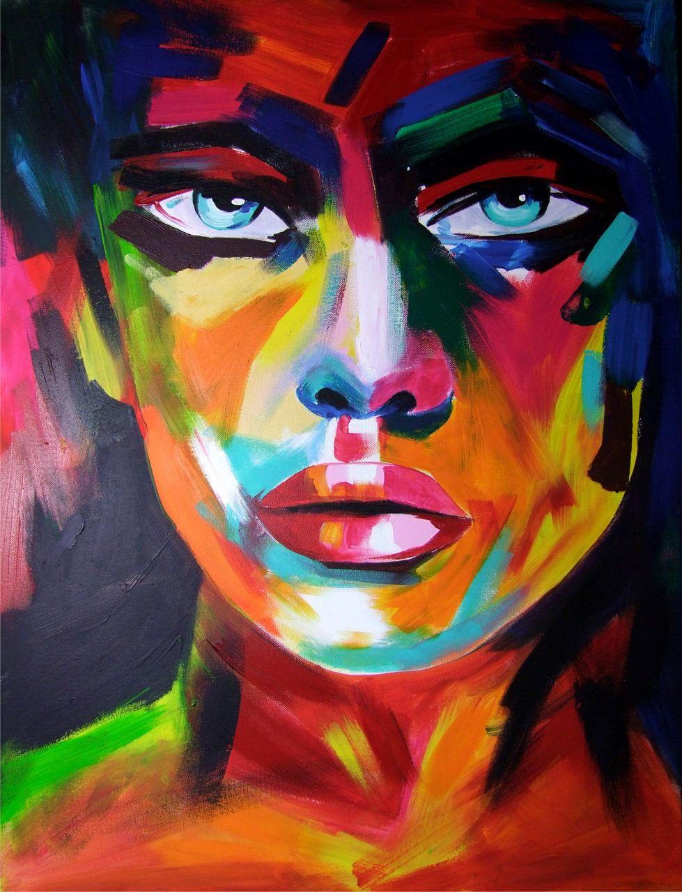 ot 293407 acrylbild painting portrait aquarell. Black Bedroom Furniture Sets. Home Design Ideas