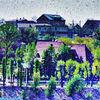 Dorf, Stillleben, Digitale kunst