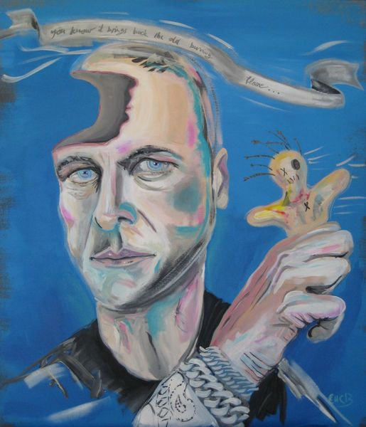 Ego, Heiß, Selbstportrait, Sommer, Figurativ, Voodoo
