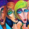 Treffen, Menschen, Augen, Portrait