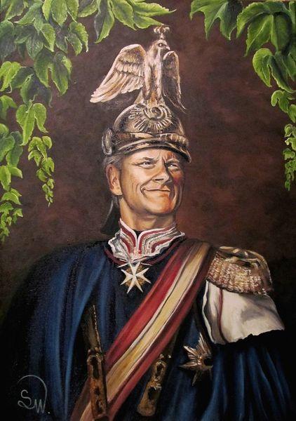 Uniform, Kaiser, Portrait, Malerei, Ende