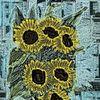 Atmosphäre, Abstrakte kunst, Sonnenblumen, Abstrakt