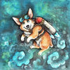 Rakete, Steampunk, Cartoon, Corgi